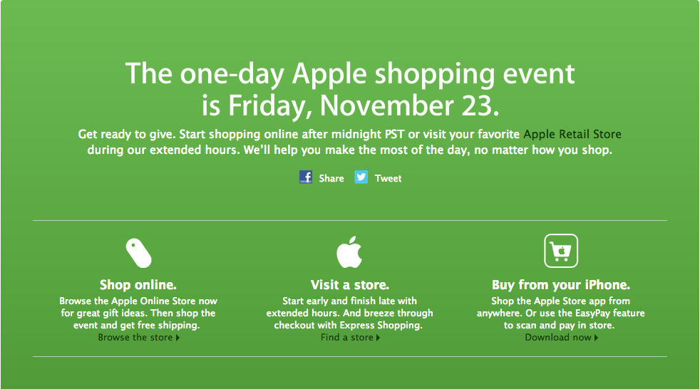 black friday iphone deals apple black friday 2012 deals apple announces one day 2012