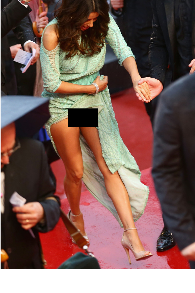 Eva Longoria Wardrobe Malfunction Uncensored Photo
