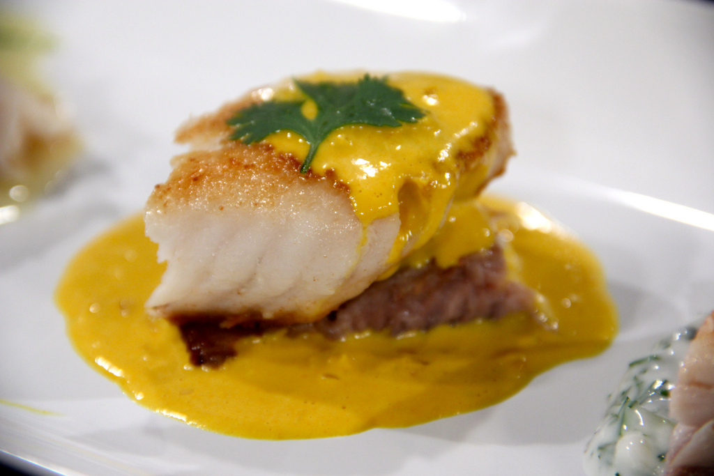 Recipe Of The Day Fish With Yellow Pepper Cream Sauce Recipe From Chef James Tahhan