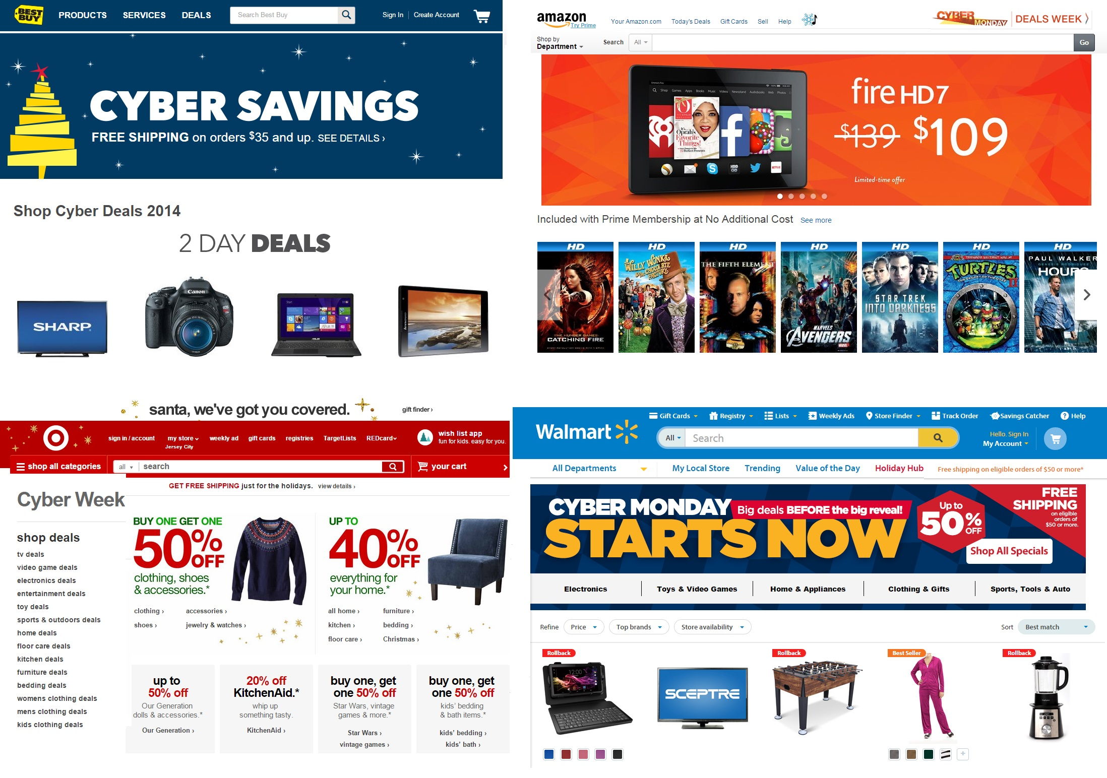 Cyber Monday 2014 Sales All Week Biggest Deals At Amazon Best Buy Target Walmart And More
