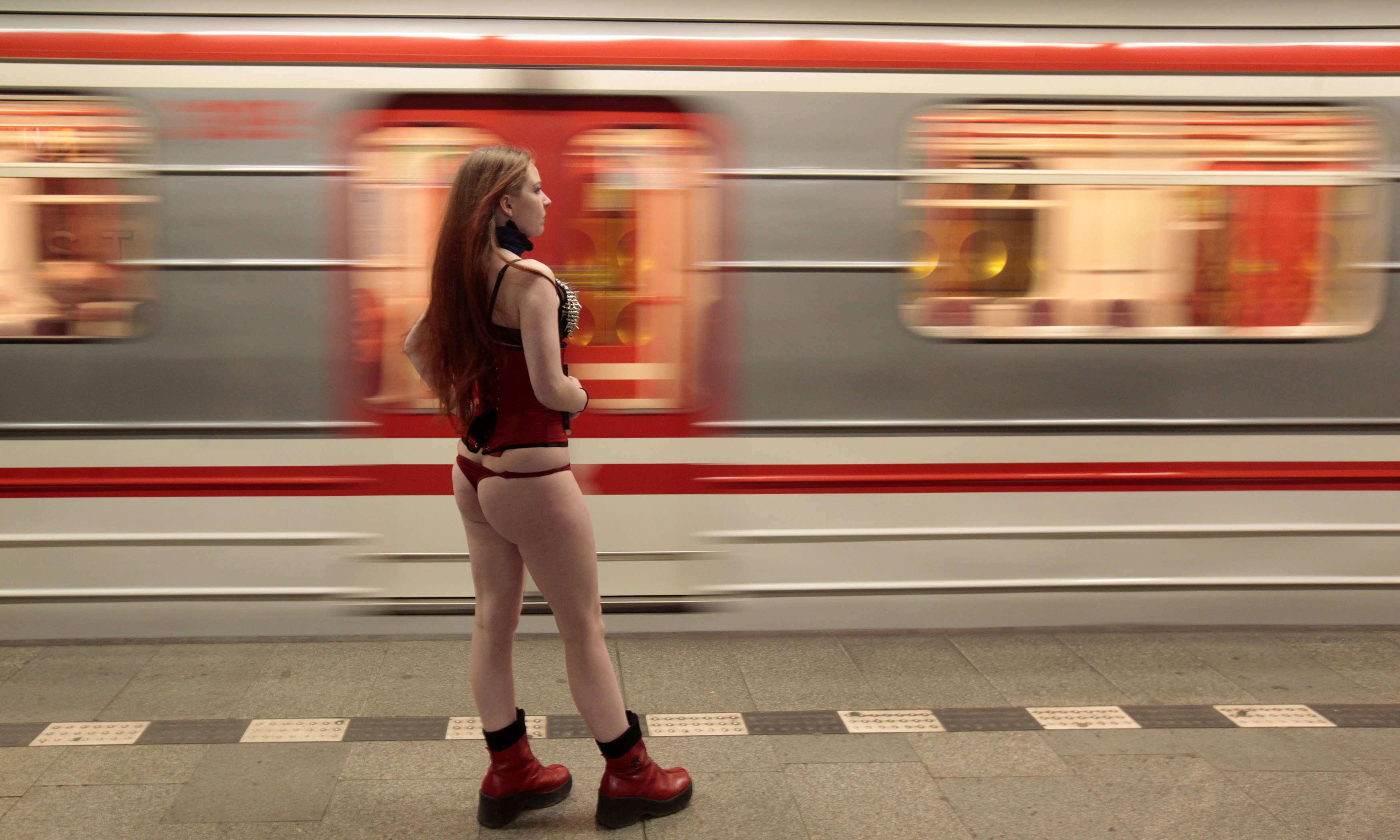 No Pants Day Colombia Banned From Subways, Youth Strip -4087