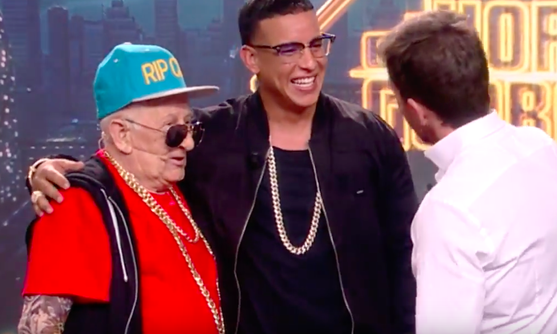 Daddy Yankee 92 Year Old Daddy Melquiades Share Stage