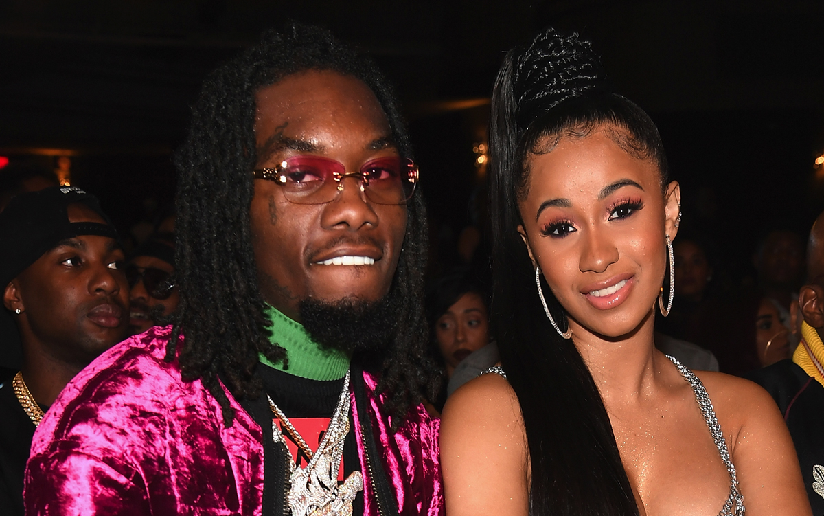 cardi b  offset engaged  watch proposal and sparkling 8