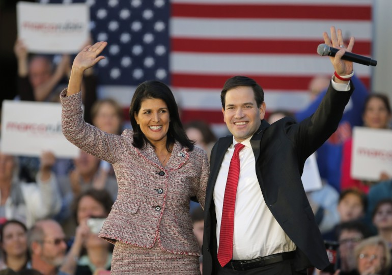 Nikki Haley Endorses Marco Rubio For President: Can These