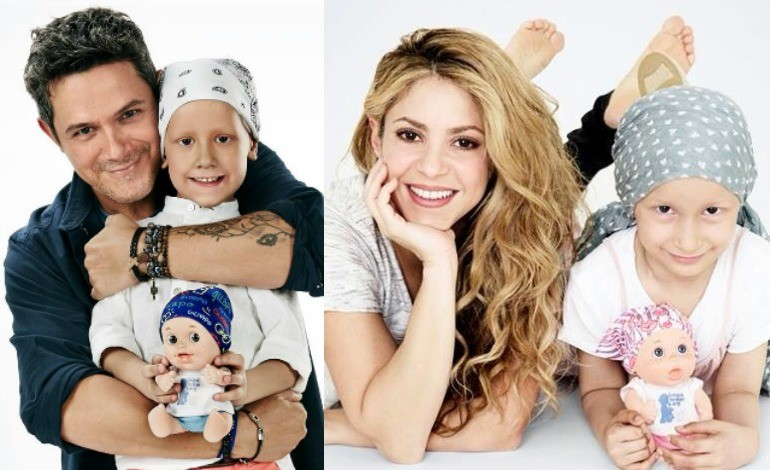 Shakira Alejandro Sanz Show Love To Children With Cancer Design Adorable Dolls Photos