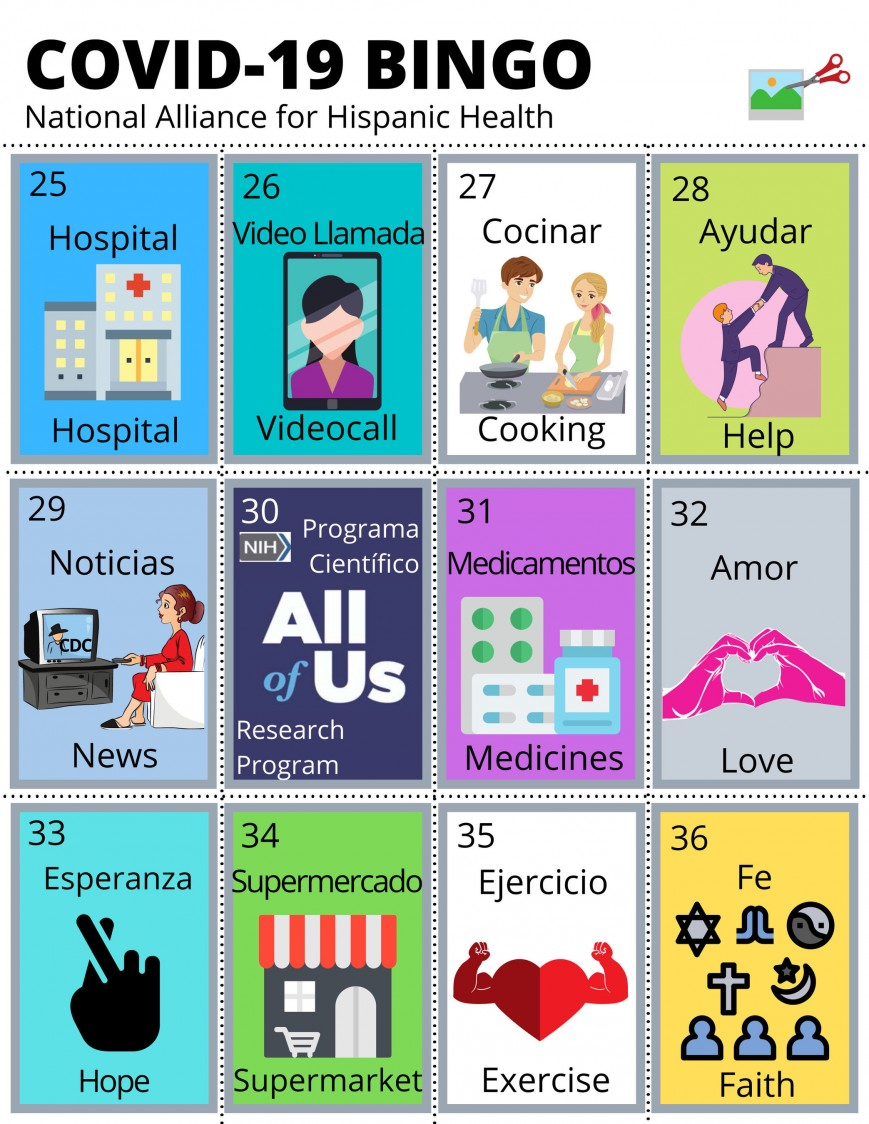 Covid 19 Bingo New La Loteria Game Created To Help Families Connect Discuss Learn More About Coronavirus