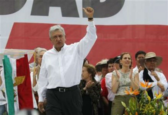 Mexican opposition leader Lopez Obrador leaves coalition