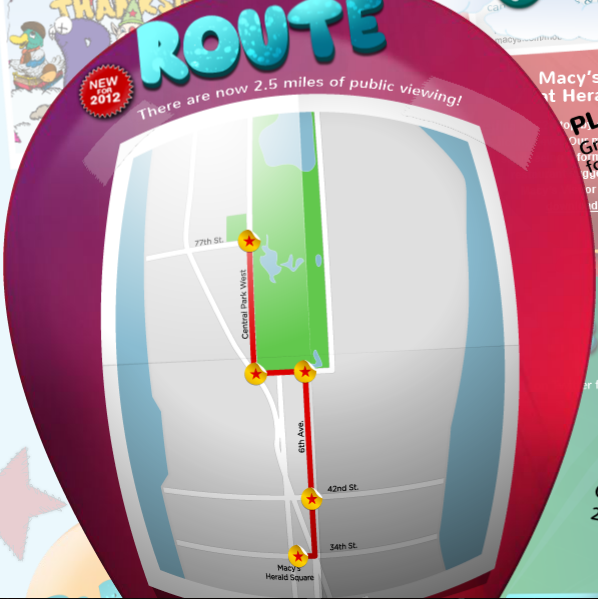 Macy's Thanksgiving Day Parade Route