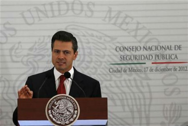 Mexican President Pena Nieto picks central bank deputy governor