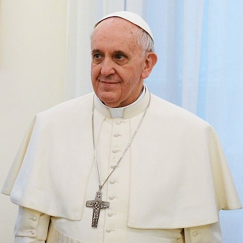 Pope Francis talks about food wastage on Wednesday's audience.