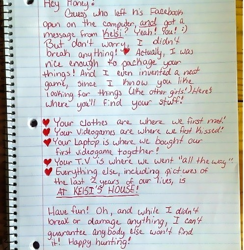 Viral Breakup Letter See Epic Breakup Note Woman Left Her Cheating