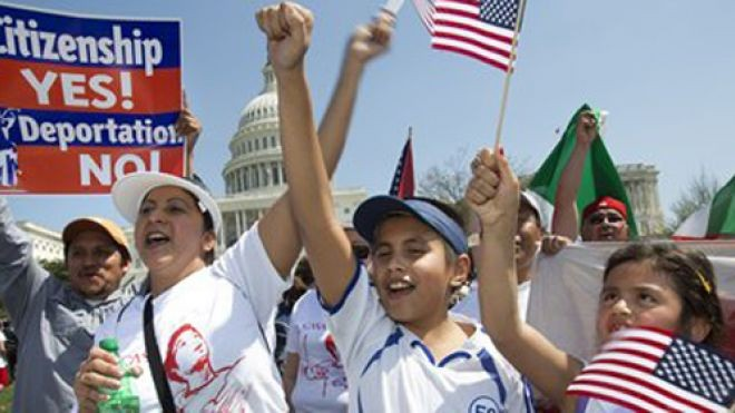 Immigration Reform Supporters in Washington, D.C.