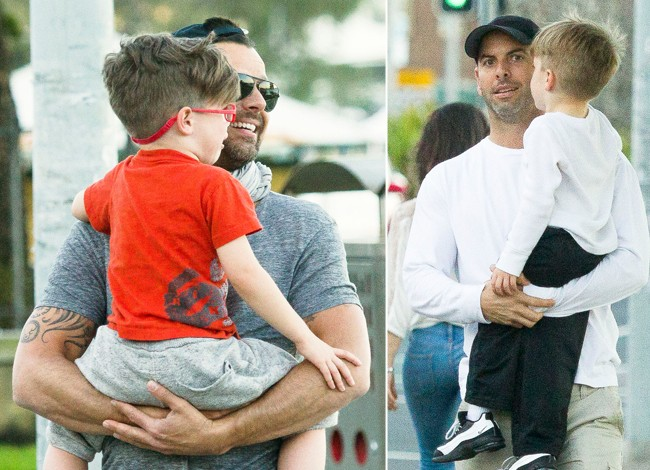 Ricky Martin and boyfriend with sons in Australia (Grosby Group)