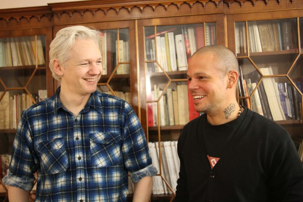 Calle 13 and Julian Assange.