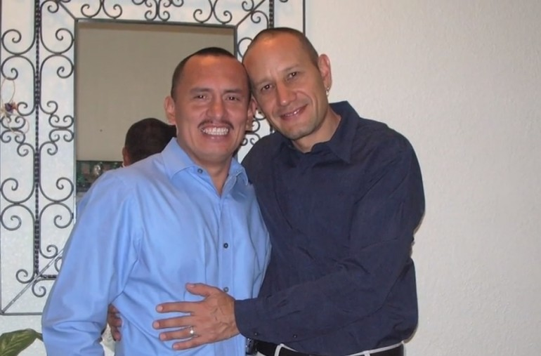 Eric Manríquez and Juan Rivera, a gay couple from California