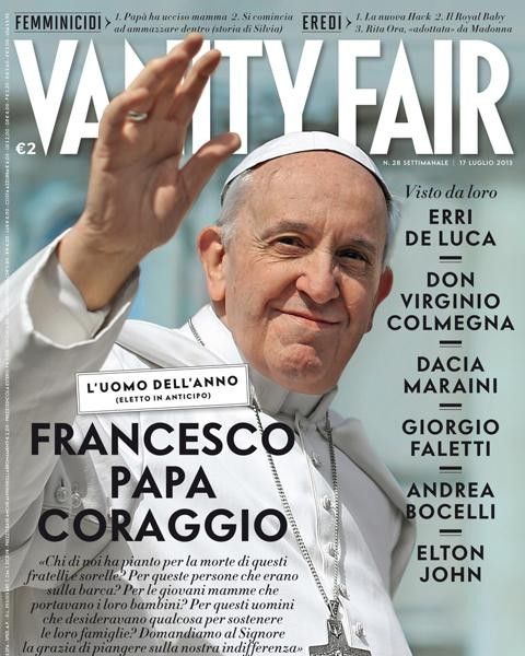 Pope Francis Is Man Of The Year In Vanity Fair, italy Edition