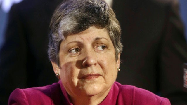 Janet Napolitano at a January press conference.