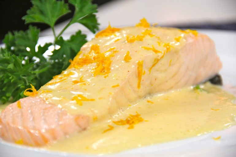Recipe Of The Day: Salmon With Honey Mustard Glaze And Watercress ...