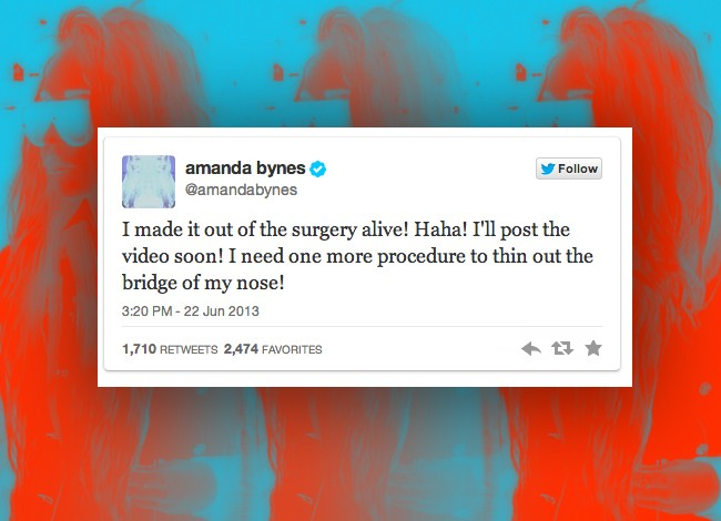 Amanda Bynes' 13 Wackiest Tweets About Her Nose Job And Plastic Surgery
