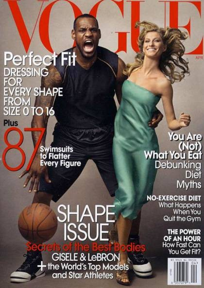Vogue spoofing King Kong with LeBron James?