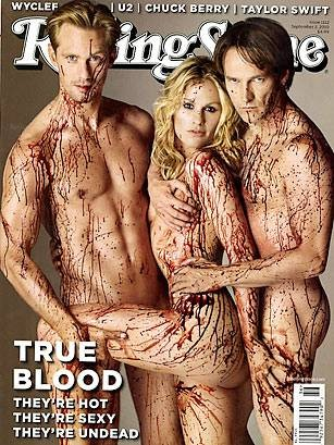 """Rolling Stone's nude and bloody """"True Blood"""" cover."""