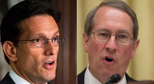 House Majority Leader Eric Cantor (left) and House Judiciary Committee Chairman Bob Goodlatte (right)