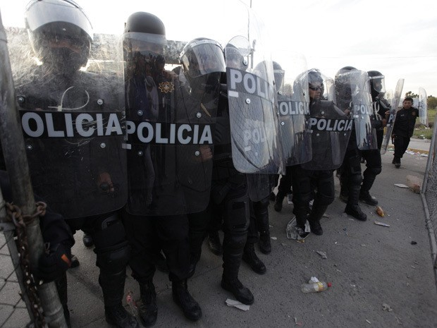 Riot police in Mexico.
