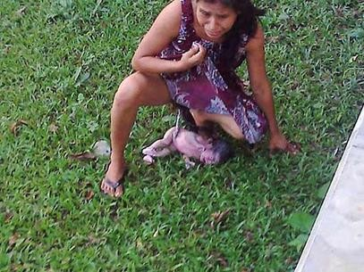 Bystander Eloy Pacheco López rushed out of the clinic and snapped this photo upon realizing what was happening.