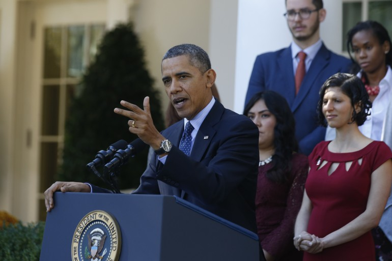 U.S. President Barack Obama speaks about healthcare from the Rose Garden of the White House in Washington October 21, 2013.