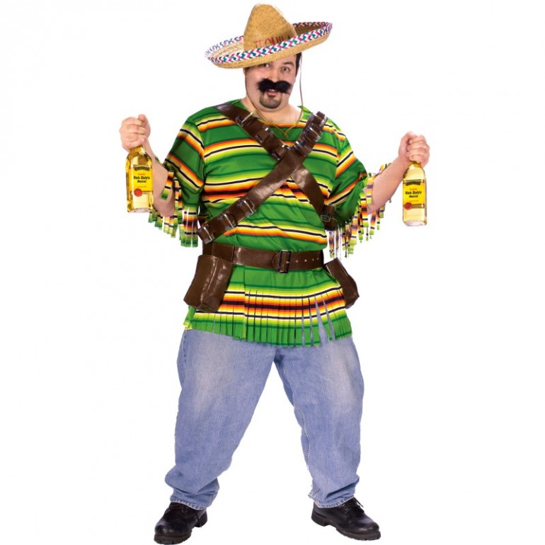 """Tequila Pop N' Dude Adult Plus Costume"""