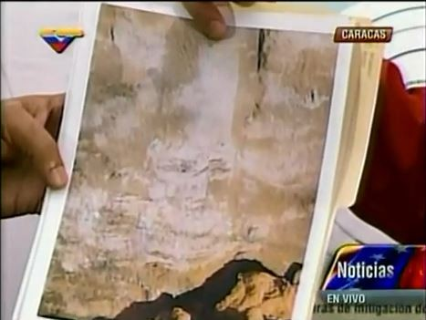 The photo of what Maduro says was the appearance of former president Hugo Chávez.