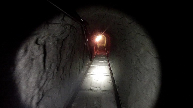 Handout photo of drug smuggling tunnel between Otay Mesa, California and Tijuana, Mexico