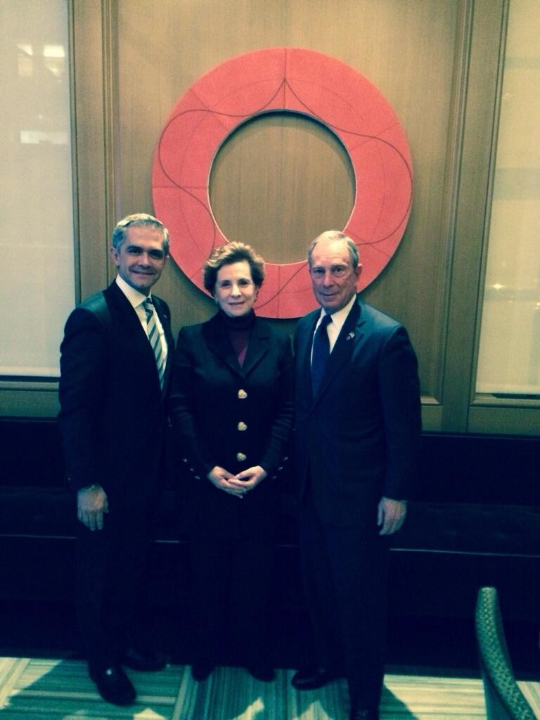 Mancera Meets With Bloomberg, New York City