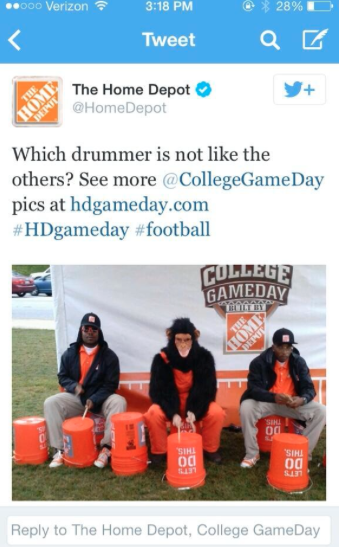 Home Depot's Racist Tweet