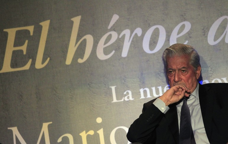 Vargas Llosa in Mexico City in November.