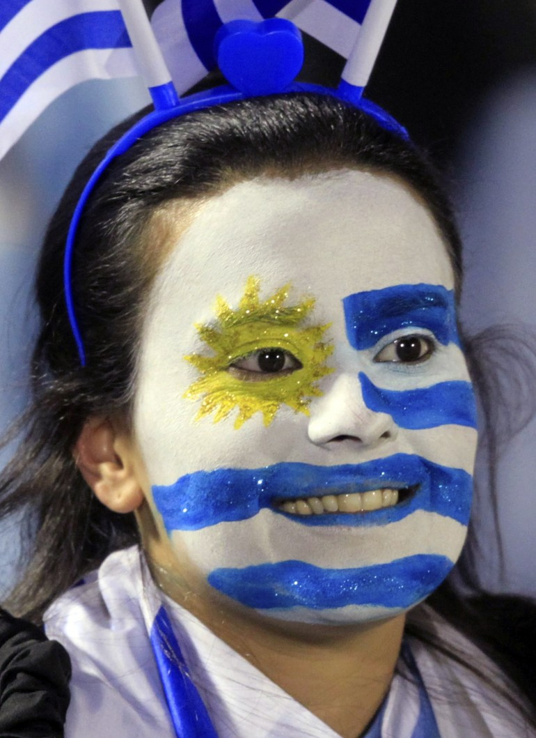 A fan of Uruguay's national team.
