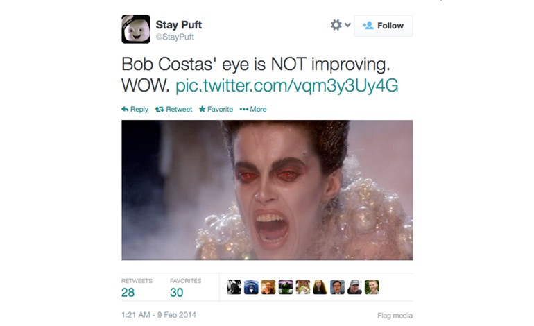 Bob Costas Eye Memes: Top 10 Funny Internet Jokes, Tweets ... - photo#22