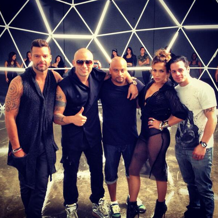 Ricky Marting, JLo, Wisin and Casper Smart