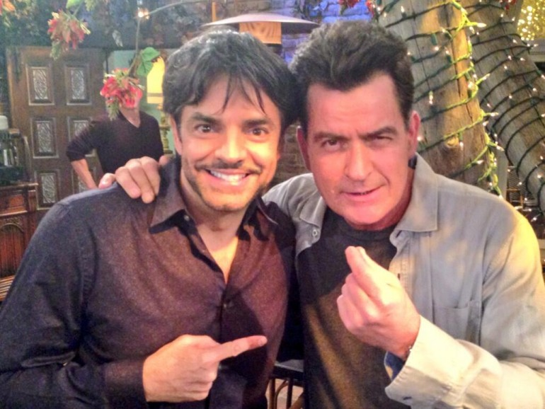 Eugenio Derbez, Charlie Sheen
