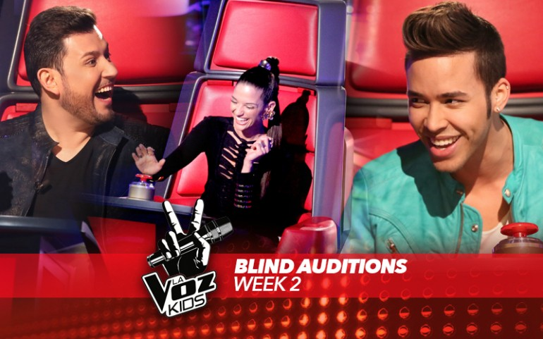 'La Voz Kids' Season 2, Blind Auditions Week 2