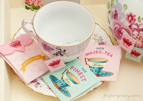 tea bags and envelopes