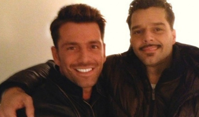 Federico Diaz and Ricky Martin