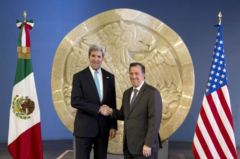 Kerry and Mexican foreign minister Jose Antonio Meade.