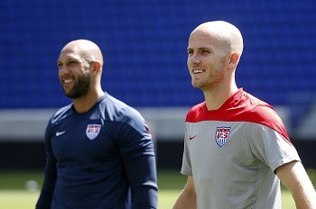 Tim Howard and Michael Bradley