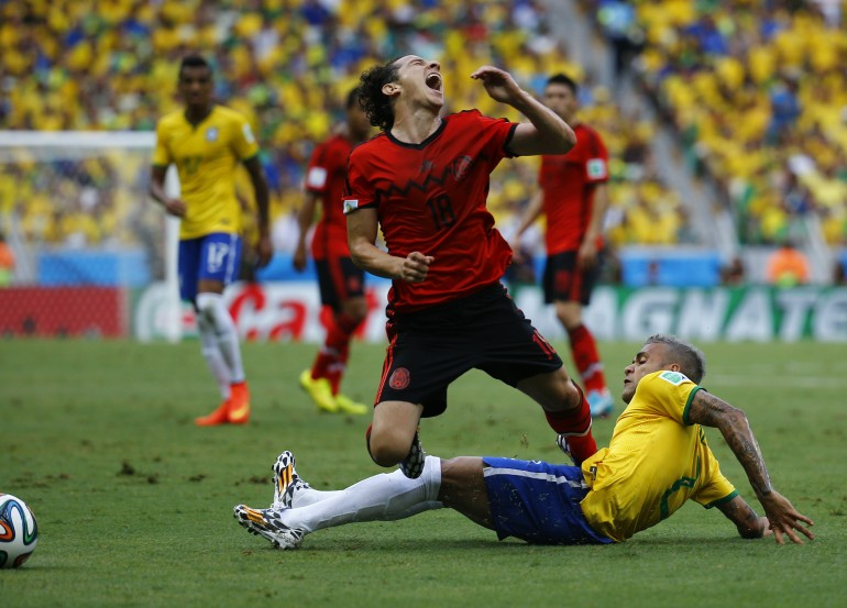 Brazil vs mexico in pictures see highlights of anticipated 2014 fifa