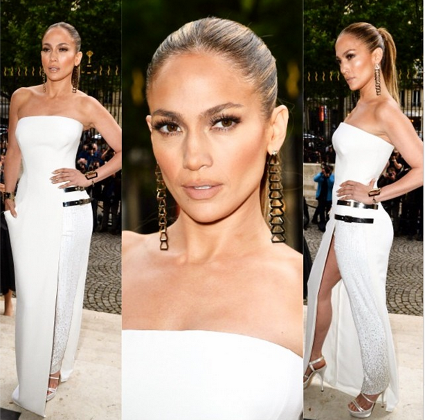 e7564cd0a5c Jennifer Lopez Versace Dress  See Photos Of Singer Looking Sexy In  Dress-Trouser Hybrid!