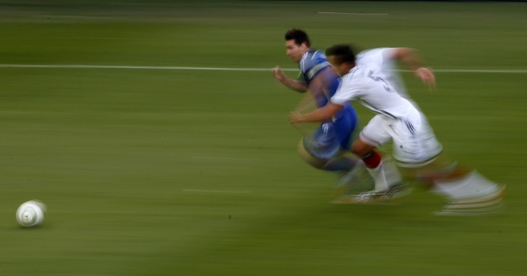 Messi blows by defenders