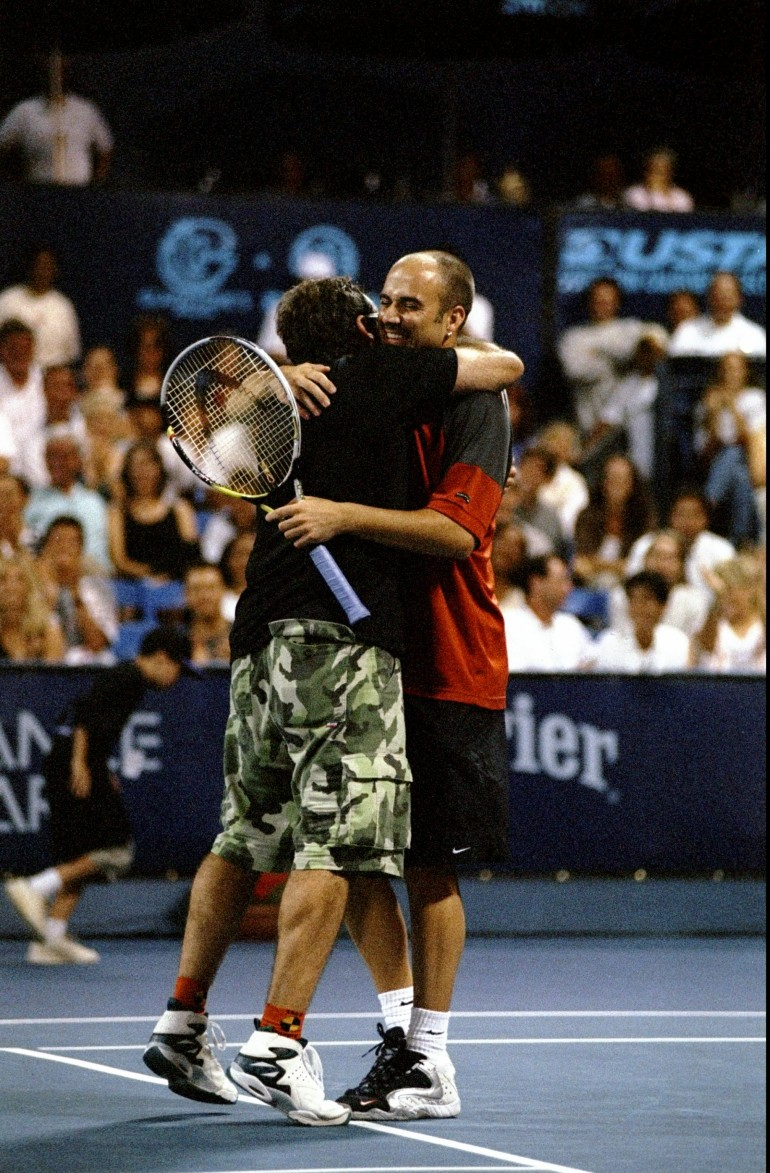 Andre Agassi and Robin Williams