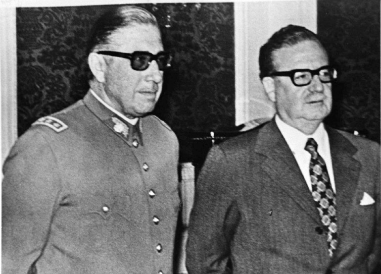 Augusto Pinochet and Salvador Allende