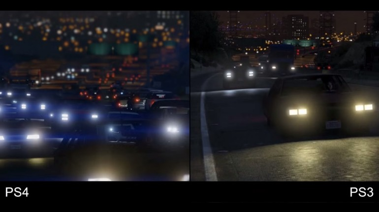 GTA 5 PS4 VS PS3